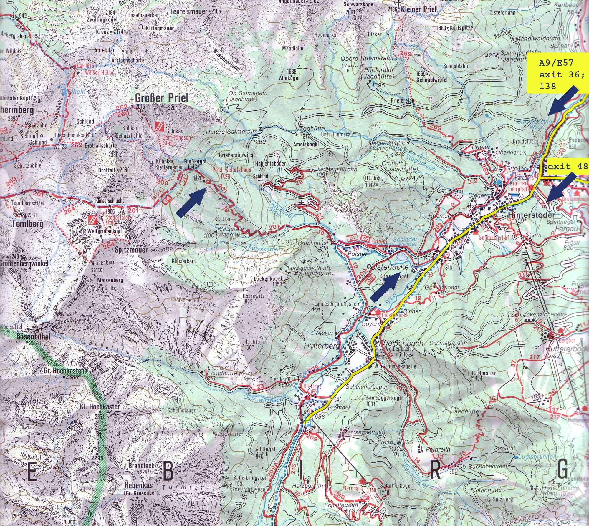 Kompass 19 Almtal Totes Gebirge Turisticka Mapa Kralovstvi Map